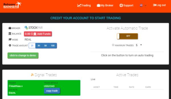 Bahama Banker Binary Options Trading Software