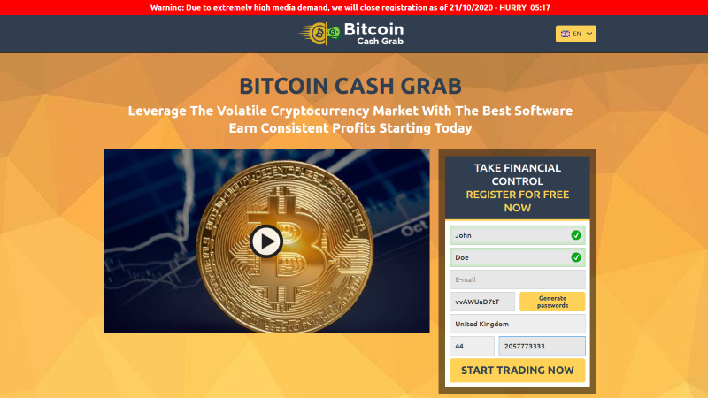 Bitcoin Cash Grab Official Review