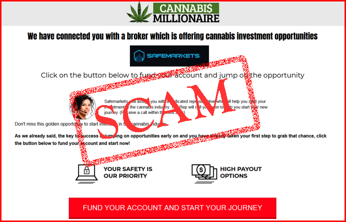 Cannabis Millionaire Scam Trading System