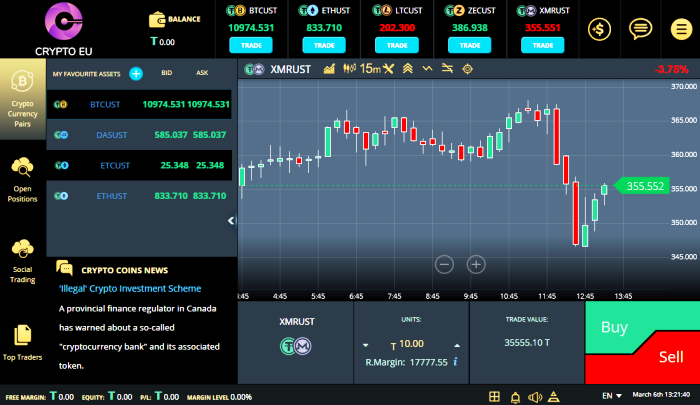Forex and crypto trading platform