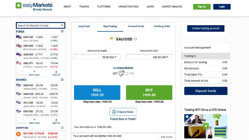 EasyMarkets Trading App