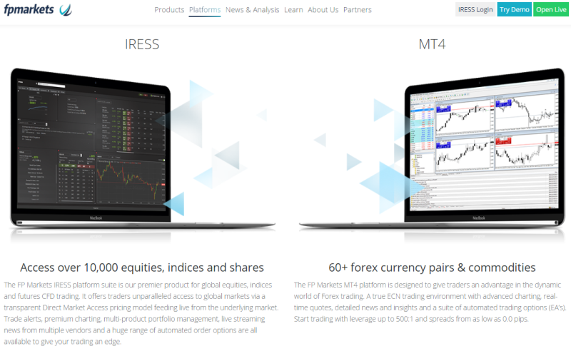 FPMarkets Trading Platforms