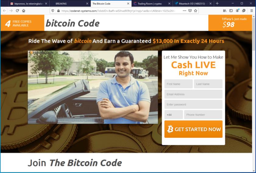 Fake Crypto Trading Bot
