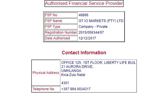 GT IO Brokers License