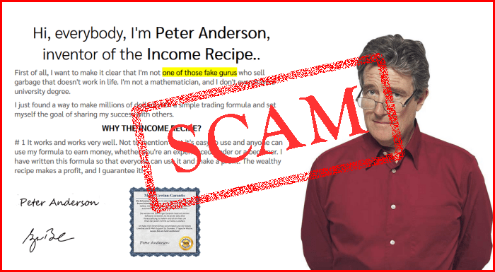 Income Recipe Scam