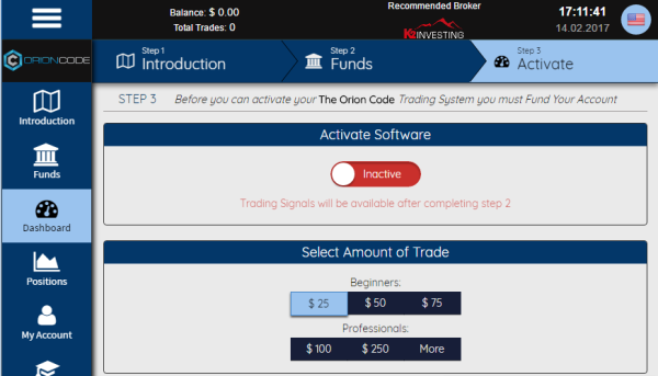 Orion Code Trading Software Review