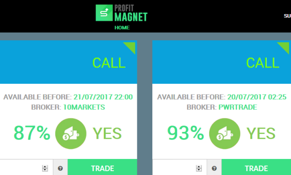 binary options magnet sign in