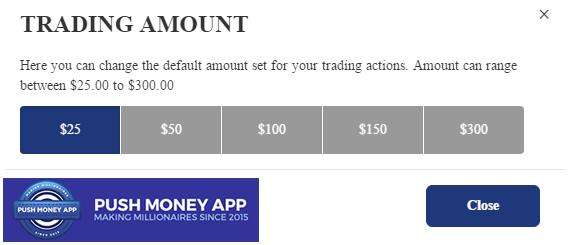 Push Money App Software Settings