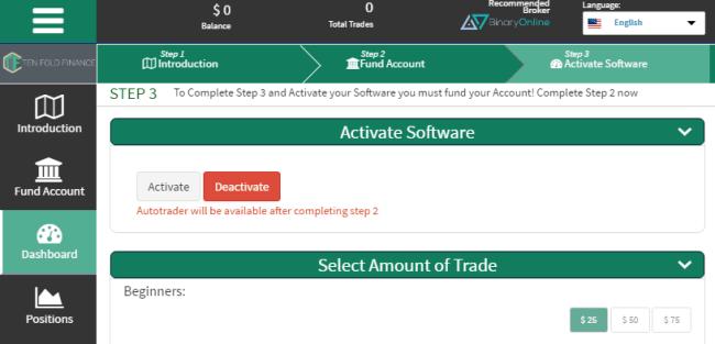 Ten Fold Finance Software System