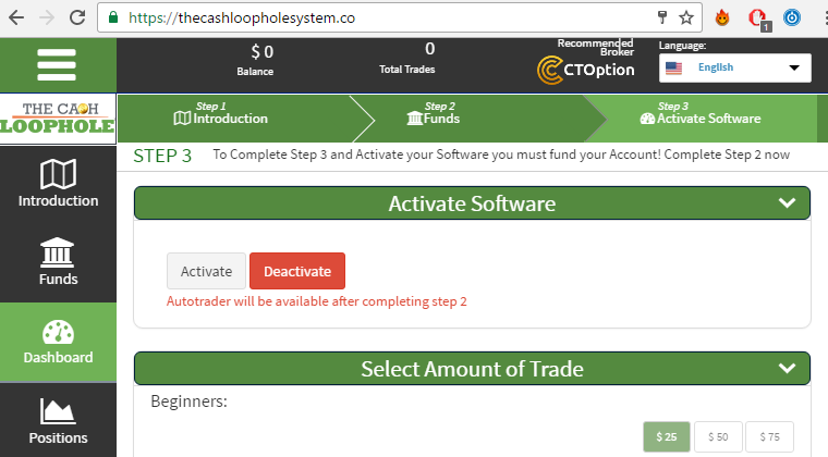 The Cash Loophole Binary Options Software